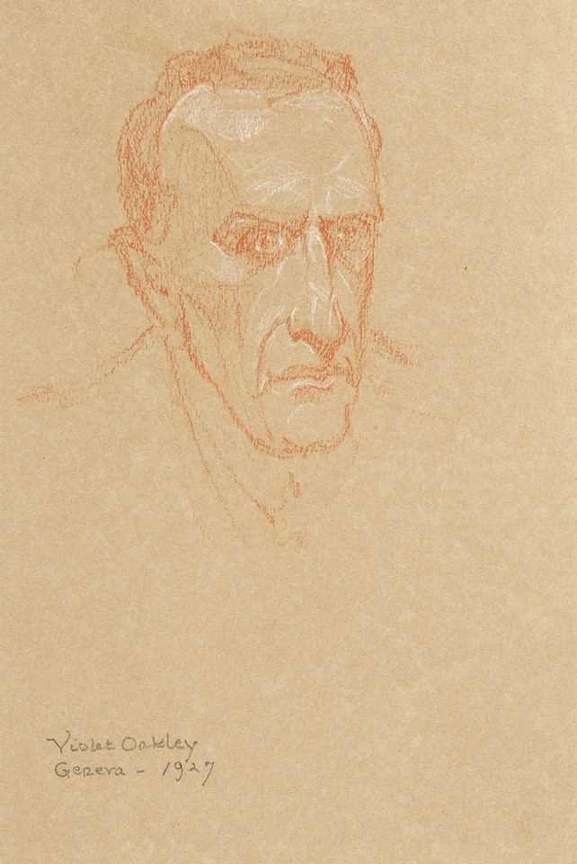 Portrait head study of unidentified man at the League of Nat ... Image 1