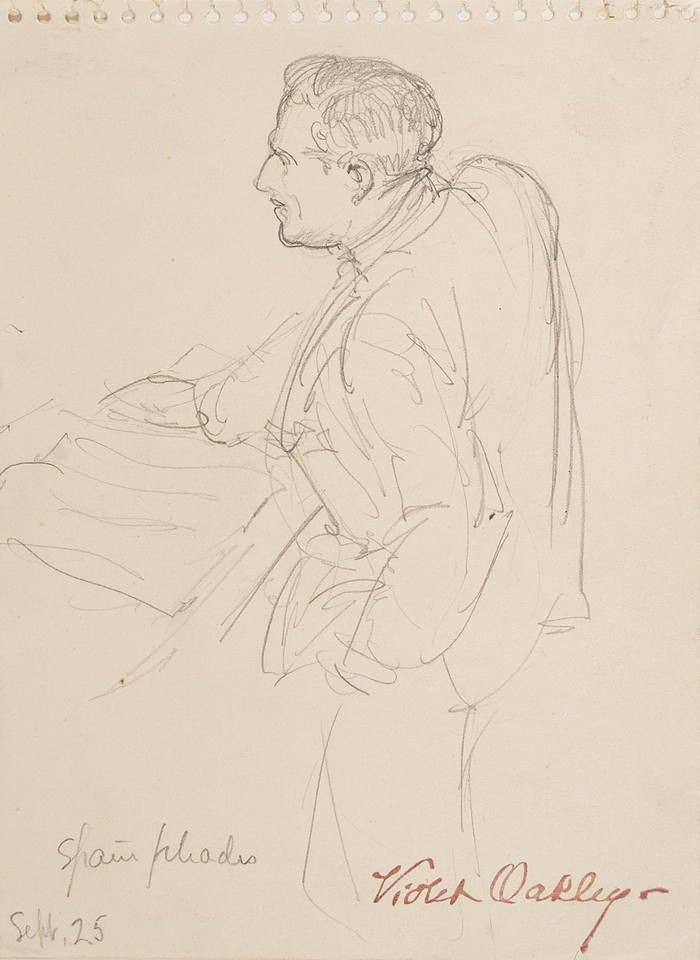 Study of man at podium at League of Nations Image 1