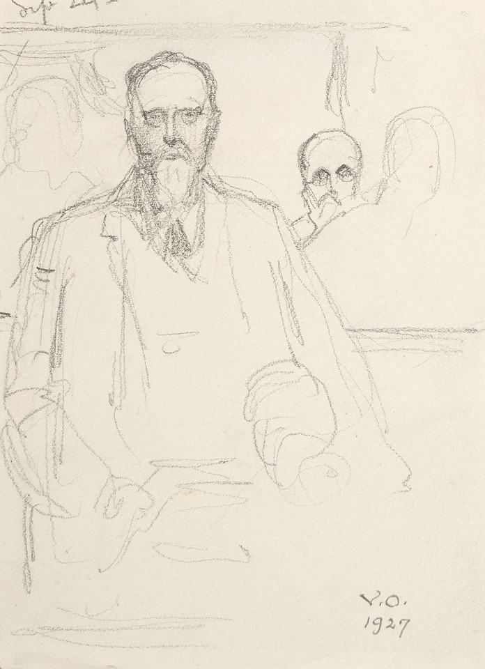 Portrait study of seated man with figures in background at L ... Image 1