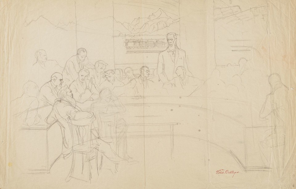 "Study for the ""Drafting of the Covenant of the League of Nat ... Image 1"