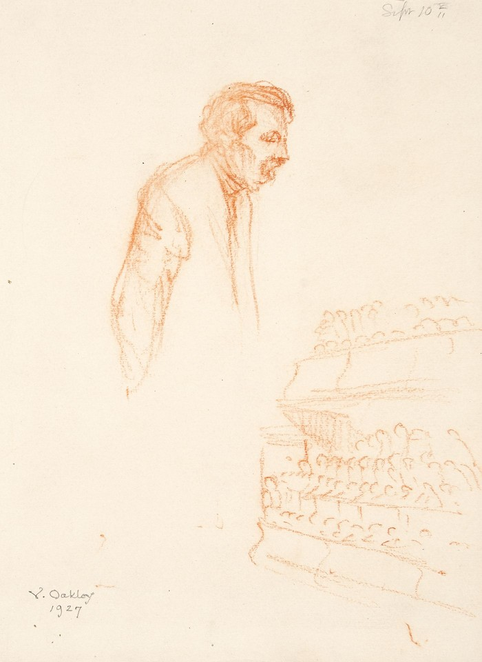 Studies of Aristide Briand, delegate from France, speaking a ... Image 1