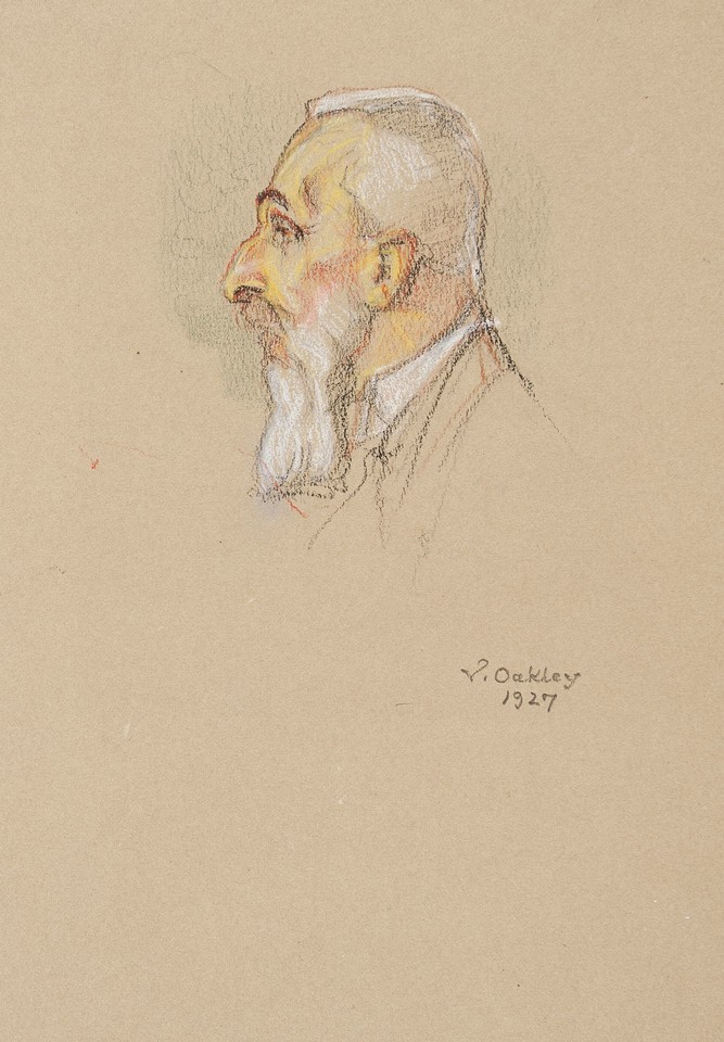 Portrait head study of Count Albert Apponyi, delegate from H ... Image 1