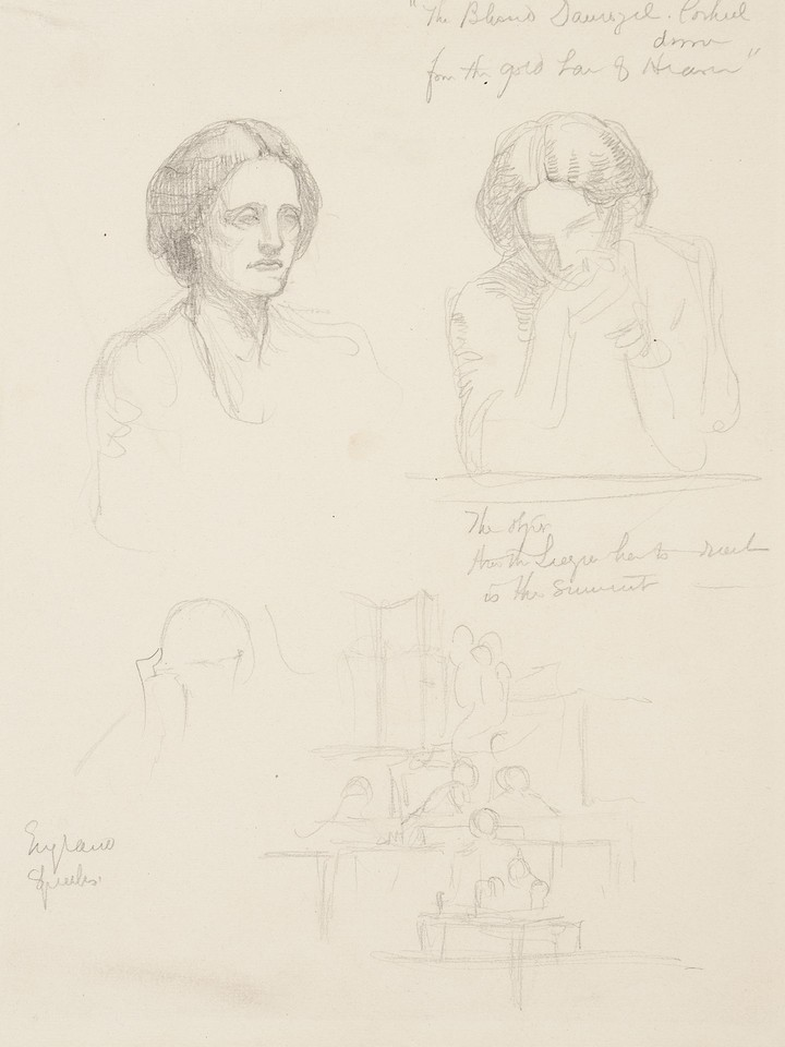 Portrait studies of Olivia Rossetti Agresti Image 1