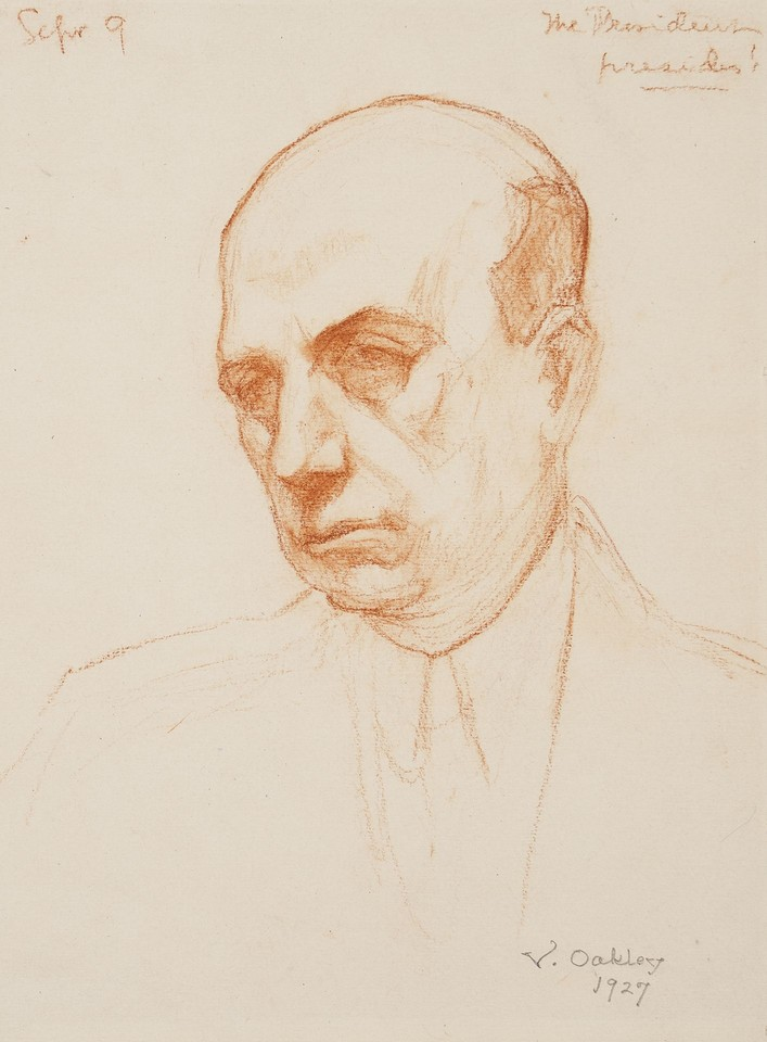 """The President presides!"" (possibly portrait study of Albert ... Image 1"