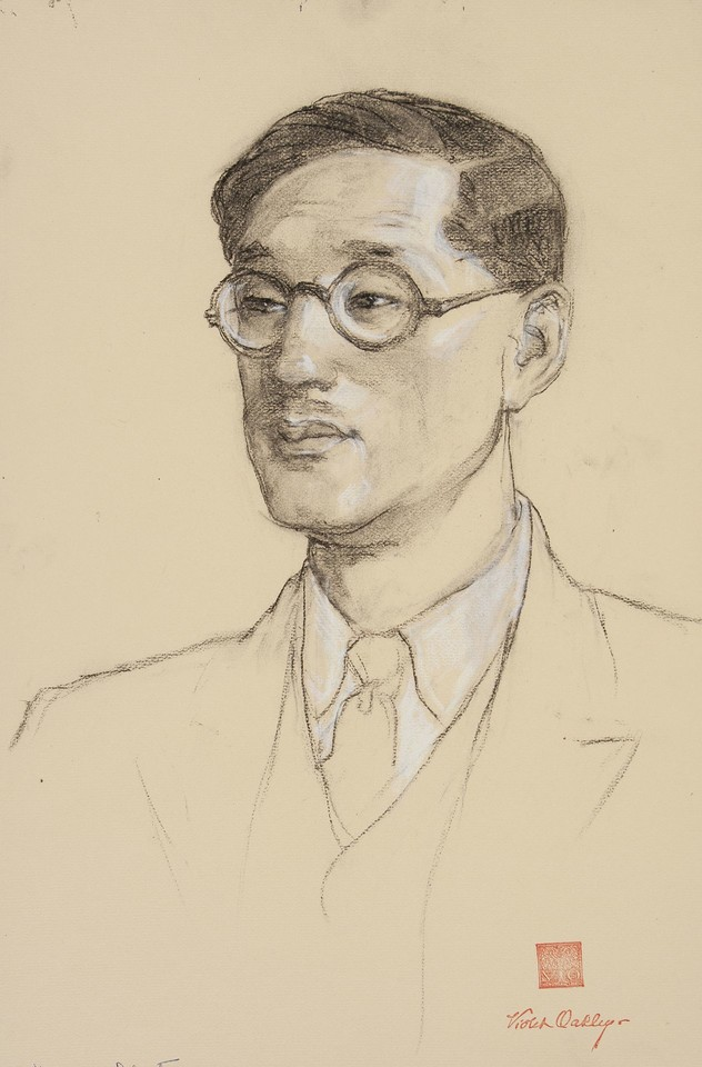 Portrait study of delegate from Japan to the League of Natio ... Image 1