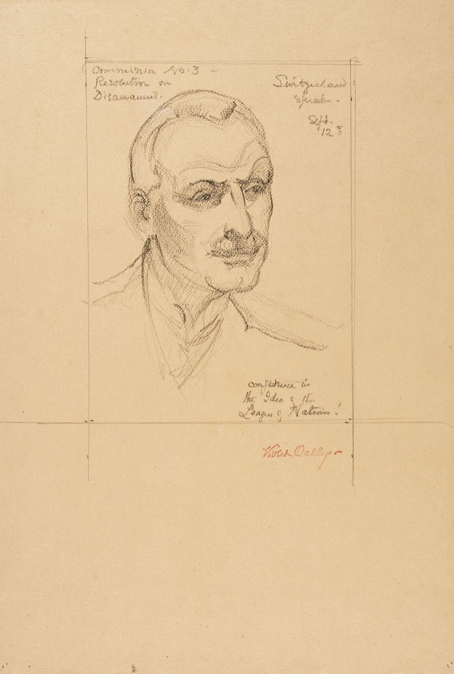 """Switzerland speaks."" Portrait of Giuseppe Motta, delegate f ... Image 1"