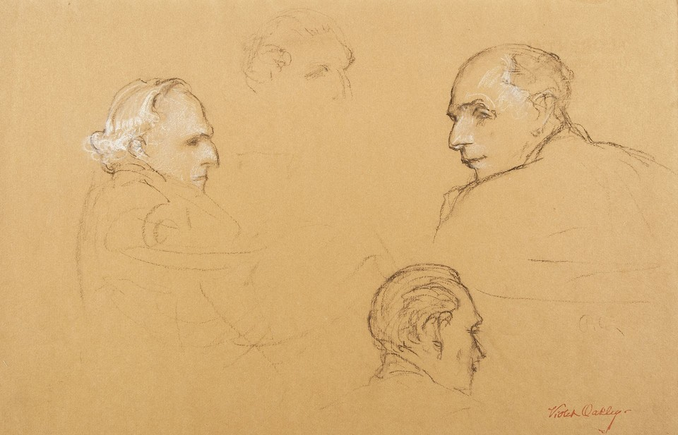 Portrait studies of Joseph Paul-Boncour, delegate from Franc ... Image 1