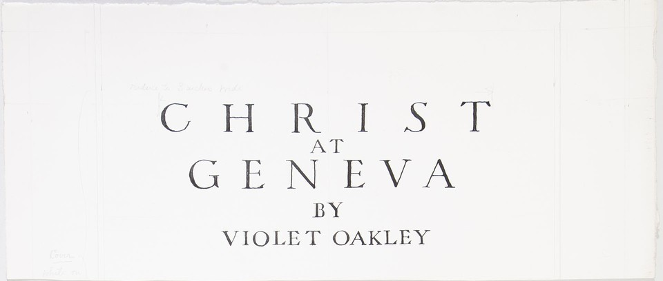 "Illuminated cover study for brochure ""Christ at Geneva""  Image 1"