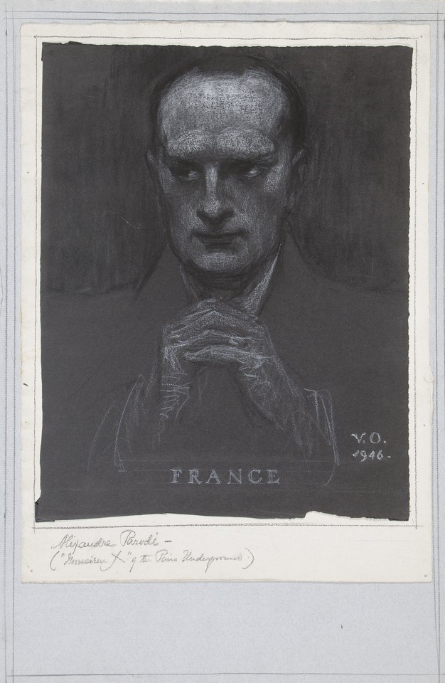 Portrait study of Alexandre Parodi, delegate from France to  ... Image 1