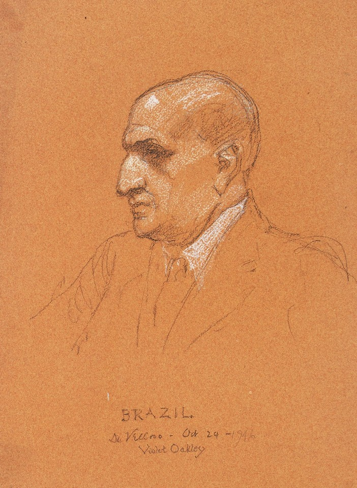 Portrait study of Dr. Pedro Leão Veloso, chairman of the Bra ... Image 1