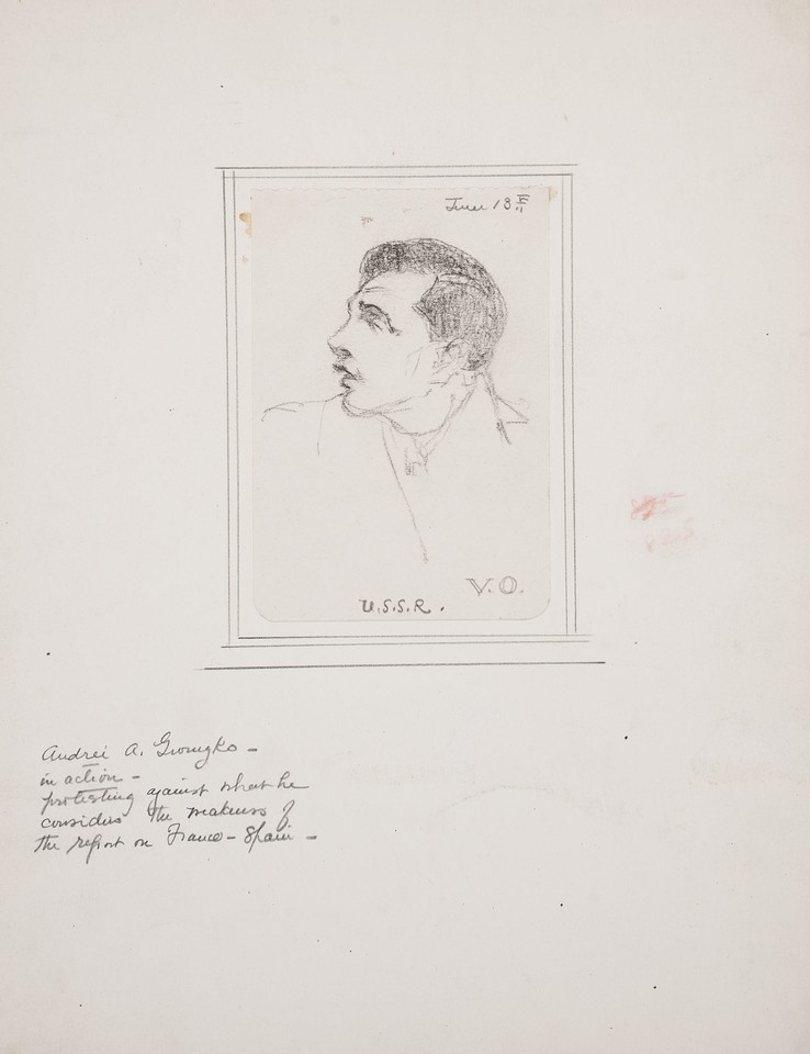 Portrait study of Andrei A. Gromyko, delegate from the U.S.S ... Image 1