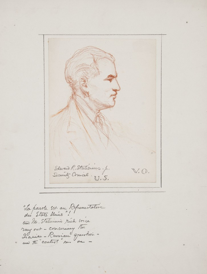Portrait study of Edward R. Stettinius, Jr., delegate from t ... Image 1