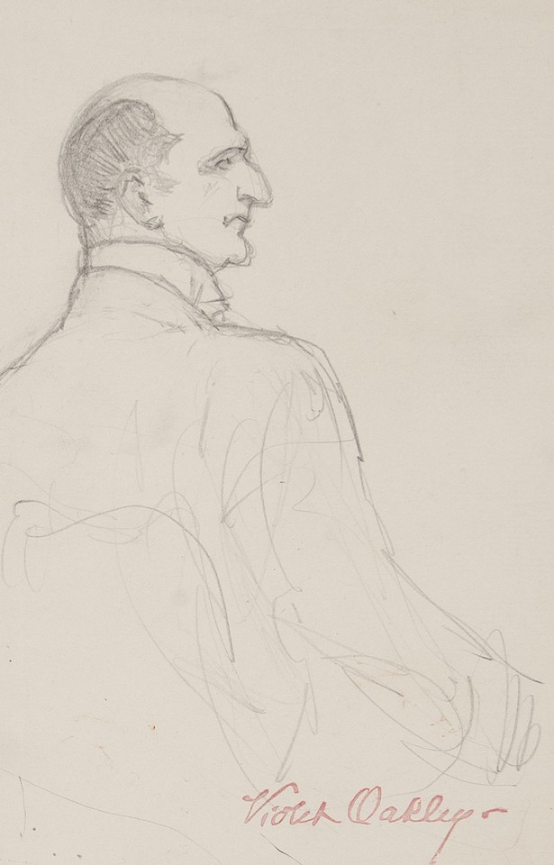 Portrait study seen from the back of Dr. Eelco Nicolaas van  ... Image 1