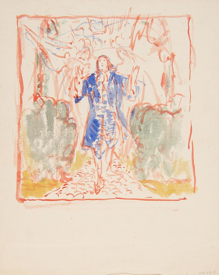 "Study for ""Penn's vision,"" Panel 11, from the mural series T ... Image 1"