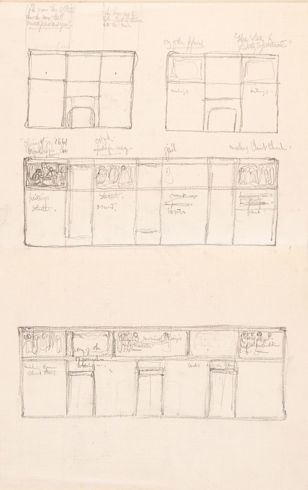 Elevation studies for two short and one long wall and one lo ... Image 1