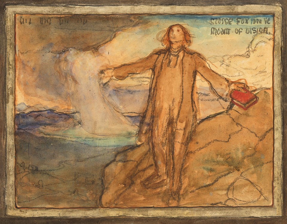 "Study for ""George Fox on the Mount of Vision,"" Panel 5, from ... Image 1"