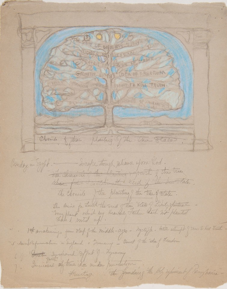 "Study for ""Chronicle of the planting of the true state,"" Gov ... Image 1"