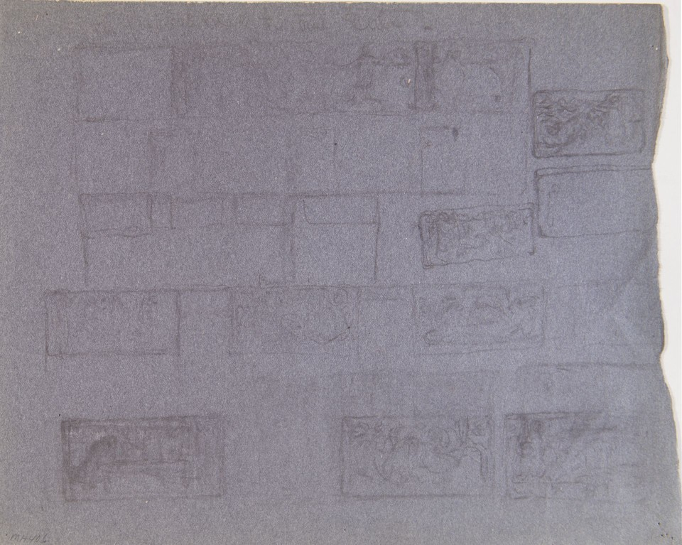 Thumbnail sketches of mural panels, Governor's Reception Roo ... Image 1