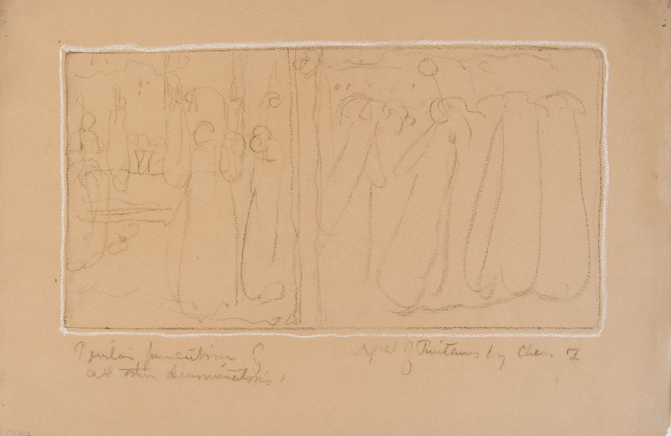 Composition study for the mural series The Founding of the S ... Image 1