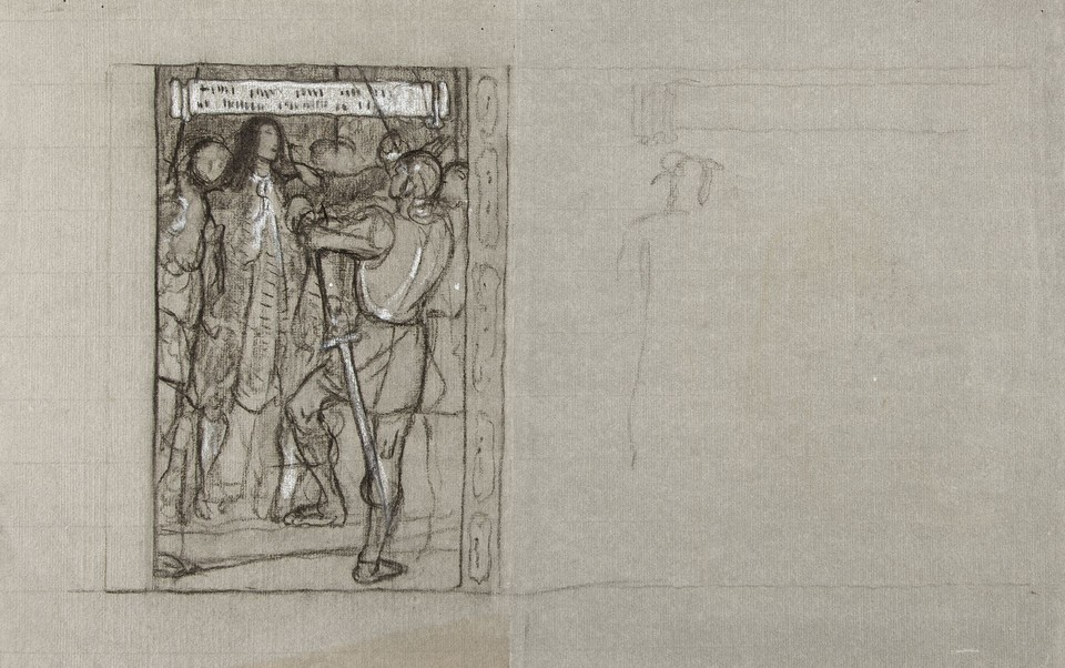 "Study for ""Penn's Arrest While Preaching at Meeting,"" Panel  ... Image 1"