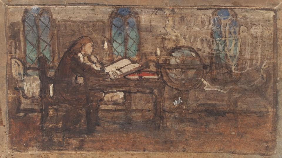"Study for ""William Penn, Student at Christ Church,"" Panel 6, ... Image 1"