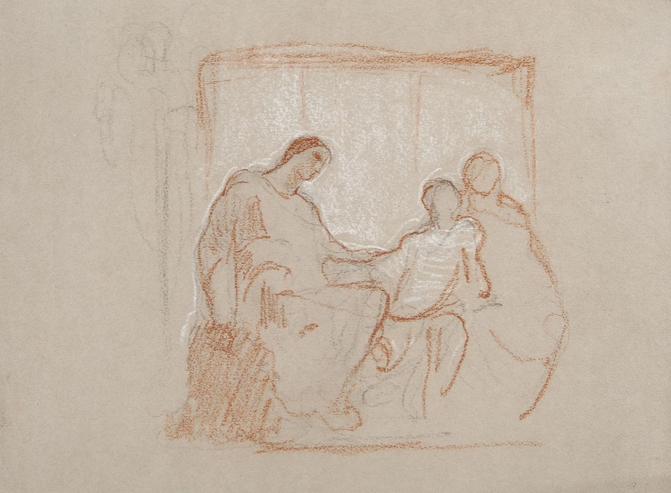"Study for the women and child in ""The Child and Tradition"" l ... Image 1"
