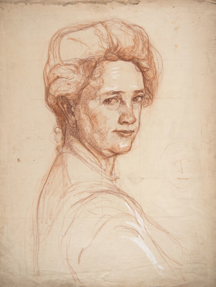 Portrait study of Mrs. William Van Duzer Lawrence (Sarah Bat ... Image 1