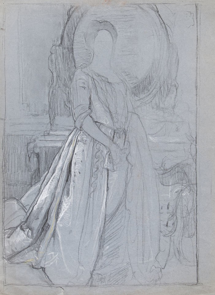 Full-length portrait study of Mrs. William Van Duzer Lawrenc ... Image 1