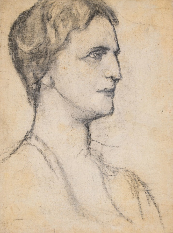 Portrait head study of Louise Lawrence Meigs Image 1
