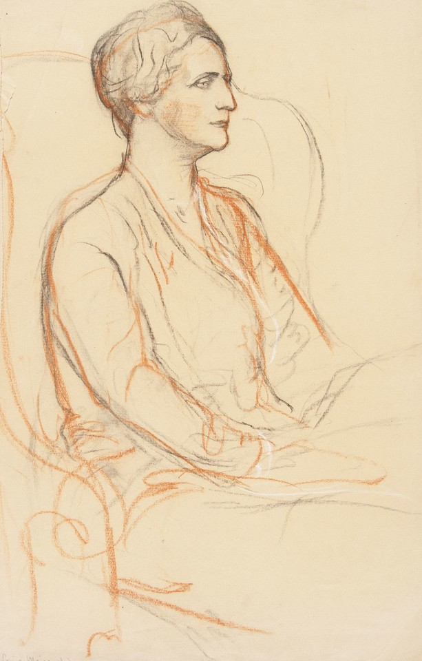 Three-quarter length portrait study of Louise Lawrence Meigs Image 1