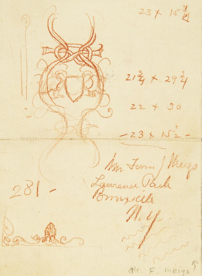 Decorative design study and notes for The Great Wonder: A Vi ... Image 1