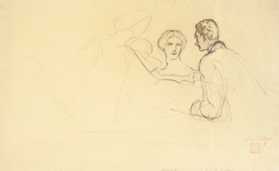 "Study for ""Il Convito,"" The Banquet , Celebrating Completion ... Image 1"