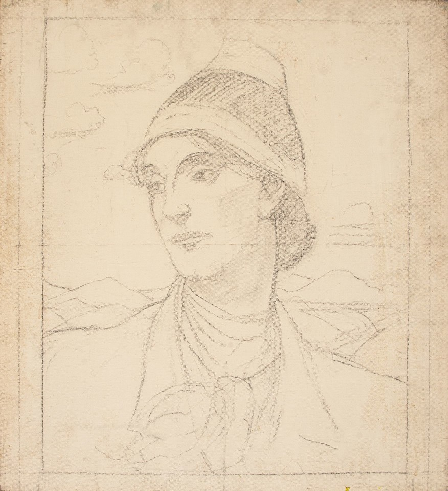Portrait study of Edith Emerson in a hat Image 1