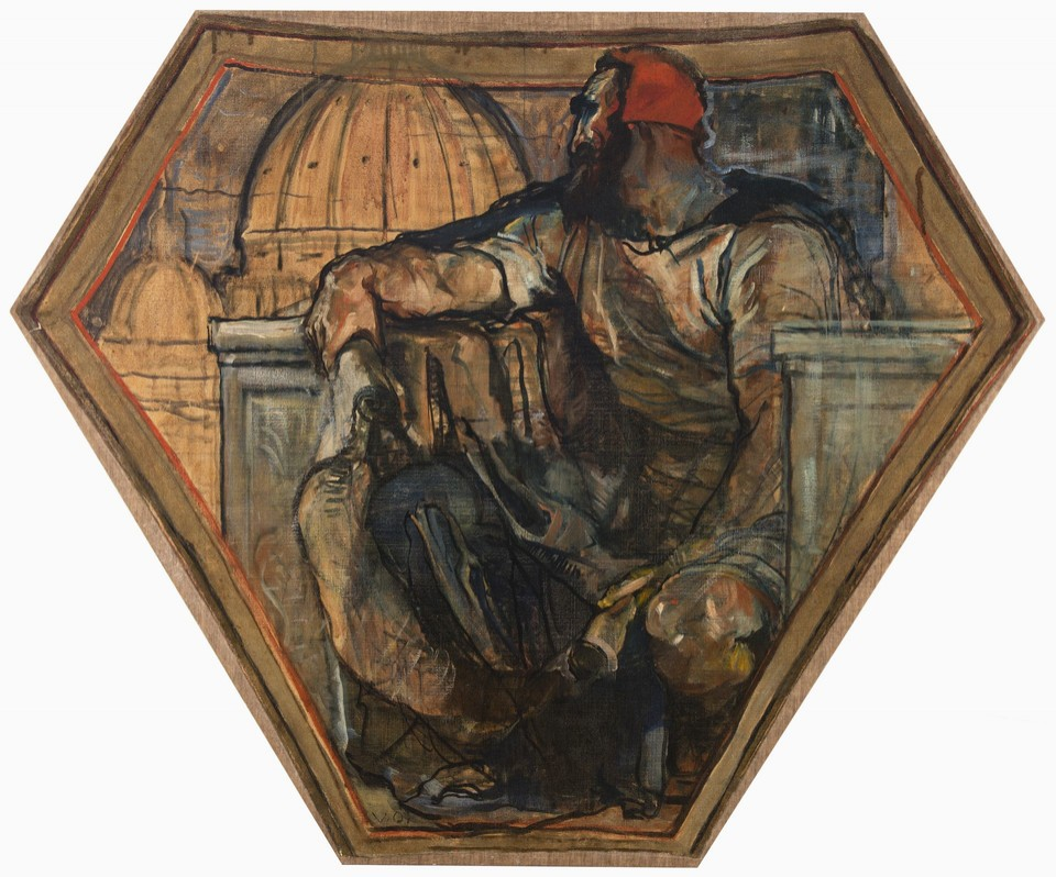 """Michelangelo and the Dome of the Renaissance"" pendentive, f ... Image 1"