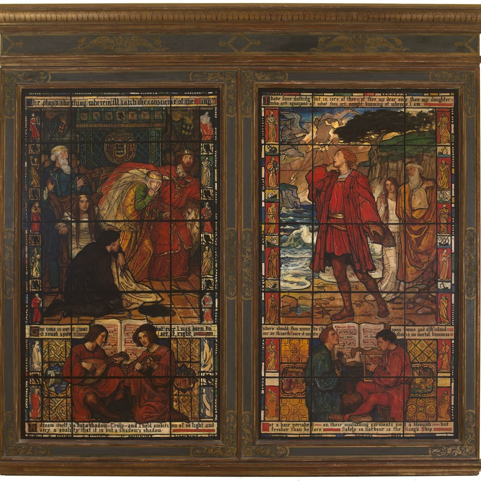 "Gibson House, ""Hamlet and Tempest Stained Glass Windows (Sha ... Image 1"