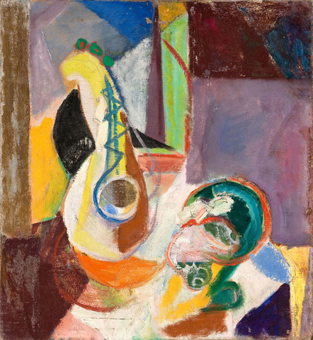 Quita Brodhead: Still Life with Mandolin (c. 1940-1942) Oil on canvas