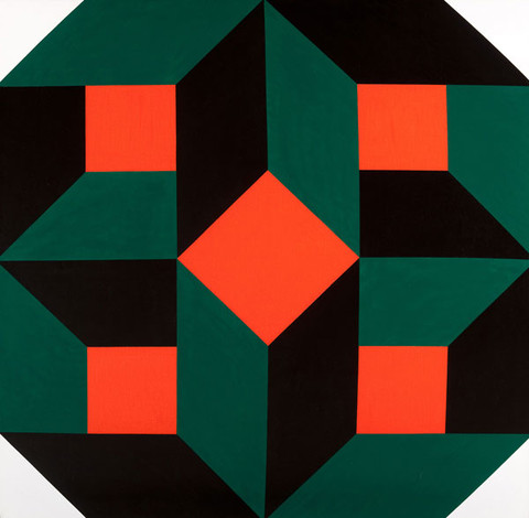 William H. Campbell: Red Green Black Power (1971) Acrylic on canvas