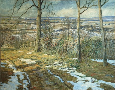 Walter Elmer Schofield: March Snow (1906) Oil on canvas