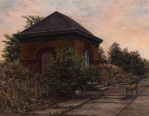 Edith Neff: Pumphouse (1983) Pastel