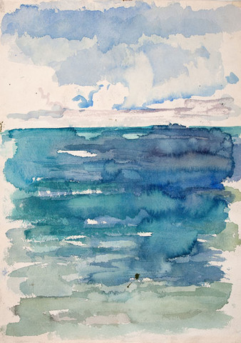 Edith Neff: Ocean (c. 1970) Watercolor on paper