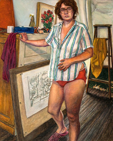 Edith Neff: Self-Portrait (1989) Oil on canvas