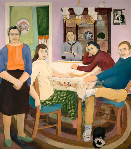 Edith Neff: The Dining Room (c. 1965) Oil on canvas