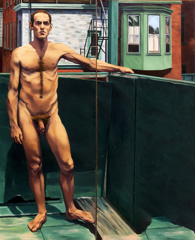 Edith Neff: Nude on Sidney's Balcony (1973) Oil on canvas