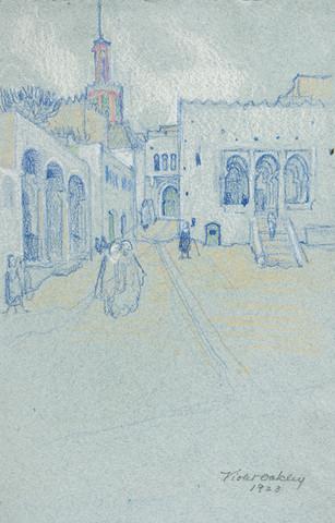 Violet Oakley: Untitled, (Tangiers) (1923) Pastel on laid paper