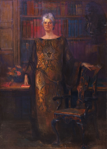Violet Oakley: Study for a Portrait of Gertrude Houston Woodward (Undated) Oil on canvas