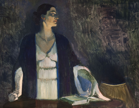Violet Oakley: Study for Portrait of Edith Emerson Lecturing [at] Lake George (Undated) Oil on canvas