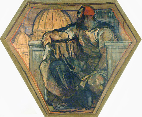 Violet Oakley: Michelangelo and the Dome of the Renaissance (1910-1911) Oil on canvas