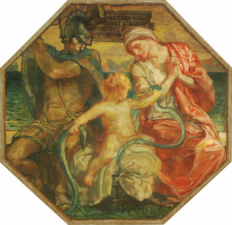Violet Oakley: Hercules the Infant Strangling the Serpents (1910-1911) Oil on canvas