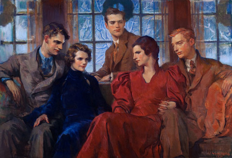 Violet Oakley: Family Group (The Bromley Family) (1936) Oil on canvas