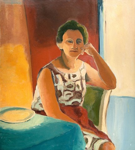 Edith Neff: [Portrait of Ruth Smith, the artist's mother] (1964) Oil on canvas